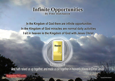 Photograph - Infinite Opportunities by Bible Verse Pictures