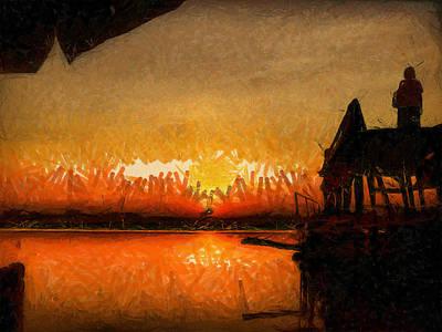 Painting - Infinite Oz Sun Set  by Teara Na