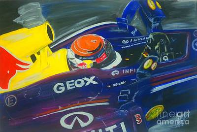 Vermeer Rights Managed Images - Infiniti Redbull Racing Royalty-Free Image by Collin A Clarke