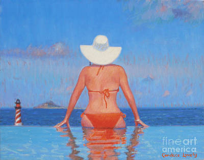 Infinity Pool Painting - Infinity by Candace Lovely