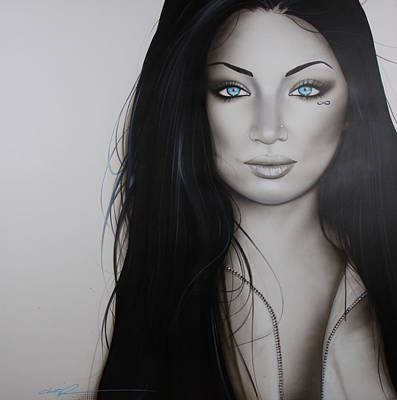 Zipper Painting - Portrait - ' Infinity ' by Christian Chapman Art