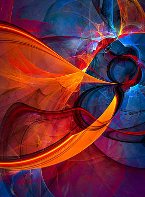 Infinity - Abstract Art Art Print