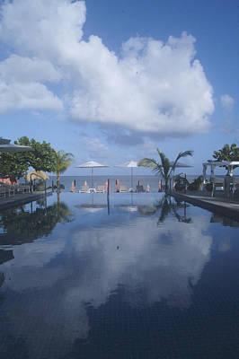 Photograph - Infinity Pool In Paradise by John Colley