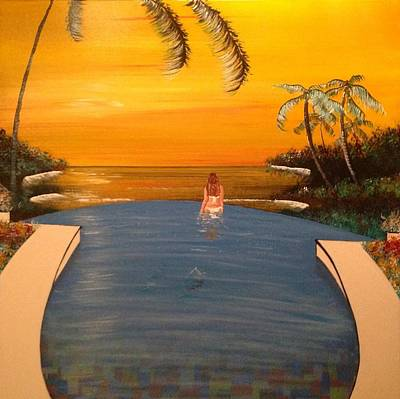Infinity Pool Painting - Infinity Pool by Mark James
