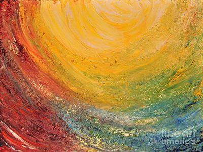 Art Print featuring the painting Infinity by Teresa Wegrzyn