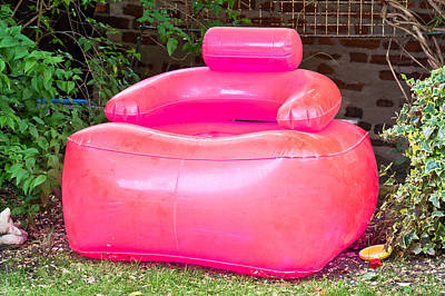 Inflatable Photograph - Inflatable Chair by Tom Gowanlock