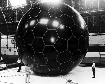 Grid Photograph - Inflatable Satellite by Us Air Force