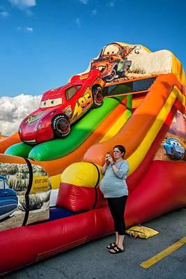 Pregnant Woman Photograph - Inflatable Slide by Steve Harrington
