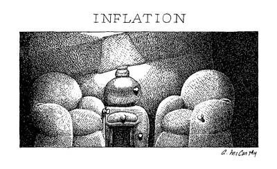 Inflation Drawing - Inflation by Ann McCarthy