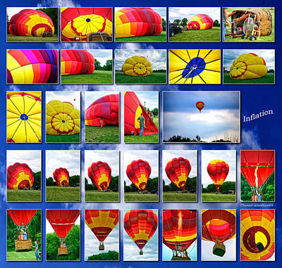 Inflation Hot Air Balloon Art Print by Thomas Woolworth