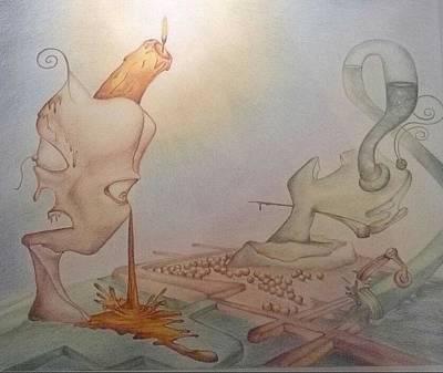 Maze Lava Drawing - Influence by Pablo Tamariz