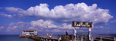 Built Structure Photograph - Information Board Of A Pier, Rod by Panoramic Images