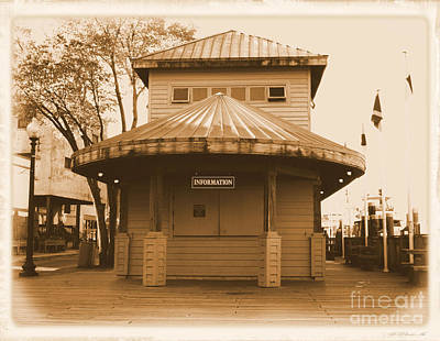 Photograph - Wilmington Nc Information Desk by Bob Sample