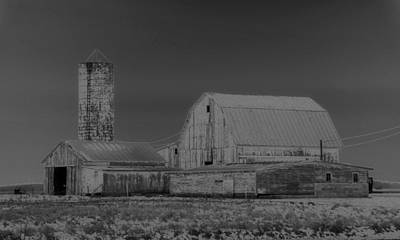Infrared Black And White Barn Art Print by Dan Sproul