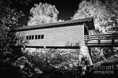 Tennesee Photograph - Infrared Covered Bridge by Paul W Faust -  Impressions of Light