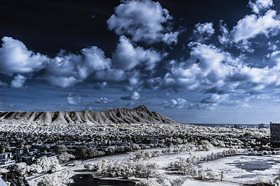 Photograph - Infrared Diamond Head by Jason Chu