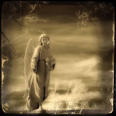Infrared Dream Angel Art Print