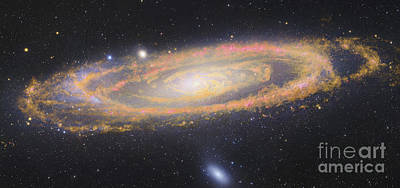 Infrared Image Of The Andromeda Galaxy Art Print by Robert Gendler