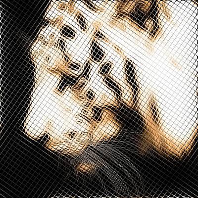 Infrared Orange Tiger Art Print by Tommytechno Sweden