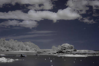Row Boat Digital Art - Infrared Over Browns Island by Jeff Folger