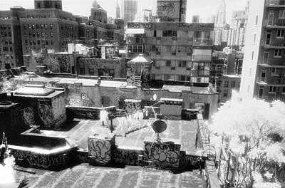 Photograph - Infrared Roofs Manhattan by Dave Beckerman