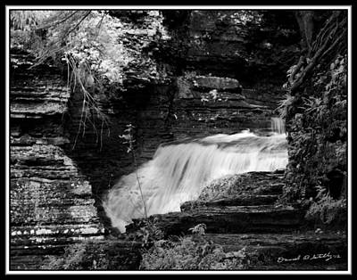 Infrared Upper Buttermilk Falls 15 Original by David Blatchley