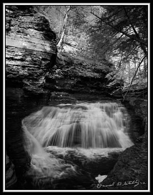 Infrared Upper Buttermilk Falls 17 Original by David Blatchley