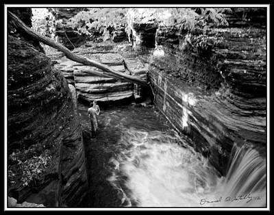 Infrared Upper Buttermilk Falls 8 Original by David Blatchley