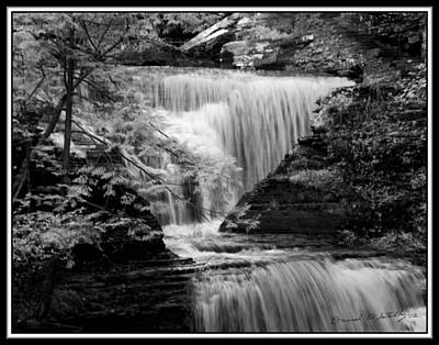 Infrared Upper Buttermilk Falls 9 Original by David Blatchley