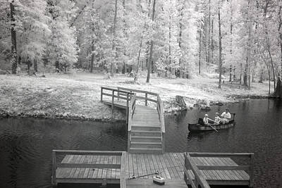 Photograph - Infrared View Of Fishing In Monroe County Alabama by Carol M Highsmith