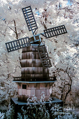Photograph - Infrared Windmill by Anthony Sacco