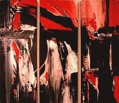 Painting - Infusion... Triptych by Glory Wood