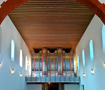 Photograph - Ingelheim Organ by Jenny Setchell