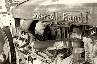 Photograph - Ingersoll Rand Tractor By Diana Sainz by Diana Raquel Sainz