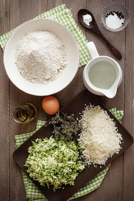 Zucchini Photograph - Ingredients For Making Zucchini Muffins by Westend61