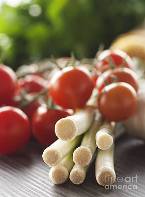 Ingredients For Tomato Sauce Print by Mythja  Photography