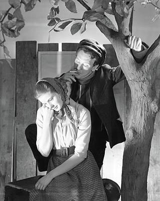 Ingrid Photograph - Ingrid Bergman And Burgess Meredith by Horst P. Horst