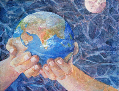 Planet System Painting - Inherit The Earth by Arlissa Vaughn