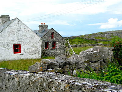Photograph - Inishmore Houses by Denise Mazzocco