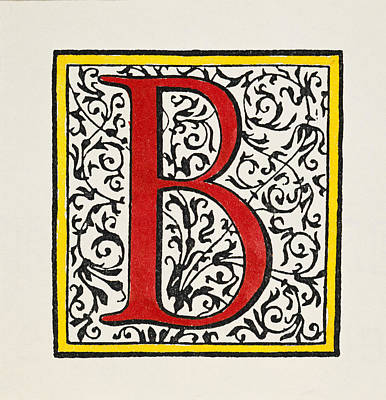 Painting - Initial 'b', C1600 by Granger