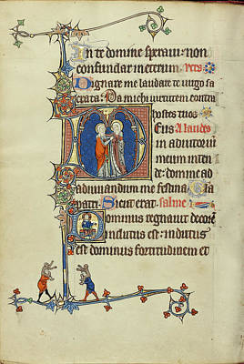 Lord Drawing - Initial D The Visitation,  Initial D The Lord Enthroned by Litz Collection