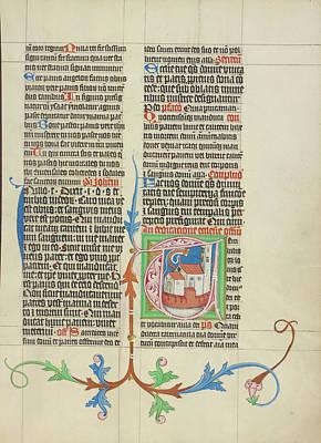 Initial T A Church Master Michael, Austrian Art Print