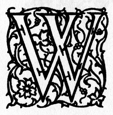 Painting - Initial 'w', C1900 by Granger