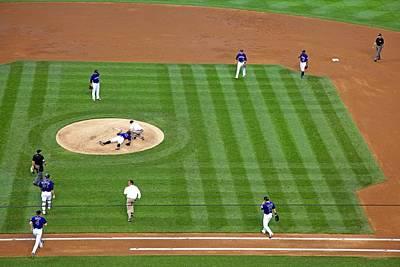 Washington Nationals Photograph - Injured Baseball Pitcher by Jim West