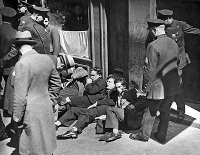 Police Officer Photograph - Injured Garment Workers by Underwood Archives