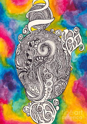 Ink And Watercolor Art Print by Kayla Soufer