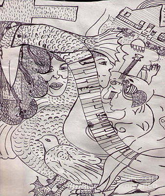Ink Art To Color 3 Art Print by Lois Picasso