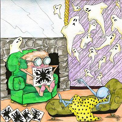 Mental Painting - Ink Blot by Julie McDoniel