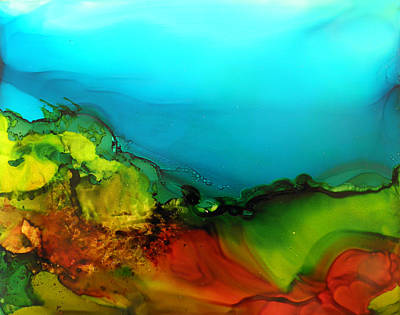 Painting - Ink Landscape # 131 by Sandra Fox