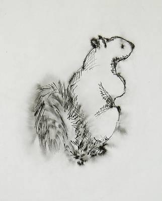 Ink Squirrel Art Print